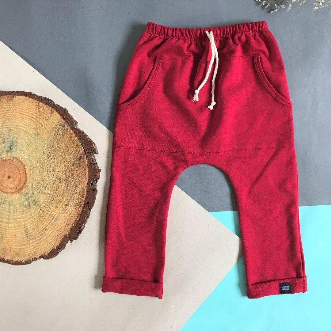 Calça Infantil Vermelha com Bolso