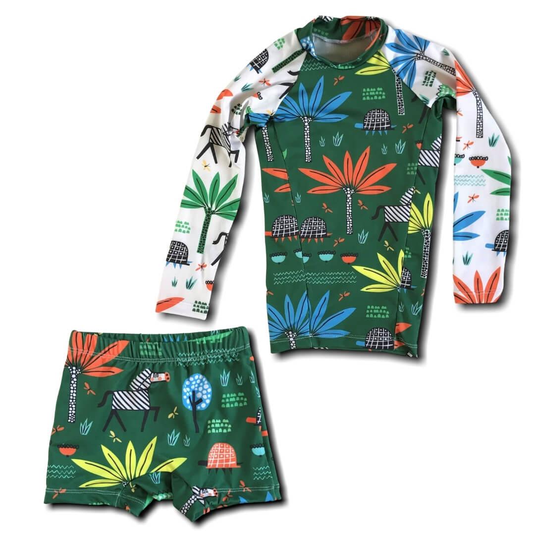 Camisa Infantil Proteção Solar Safari + Sunga