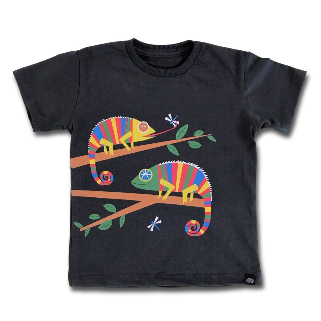 Camiseta Infantil Manga Curta Camaleão O Sumido