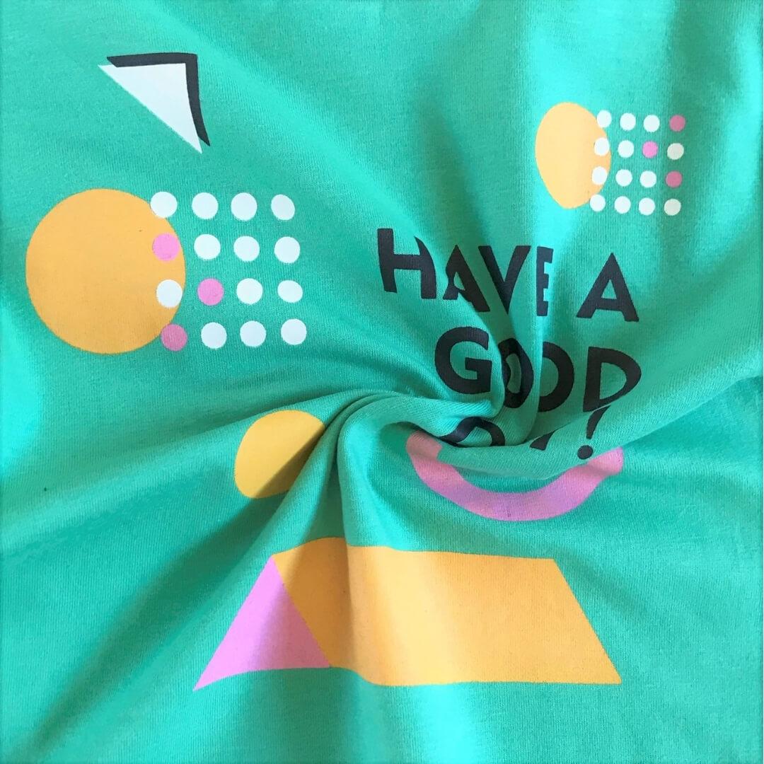 Camiseta Infantil Manga Curta Have a Good Day Verde