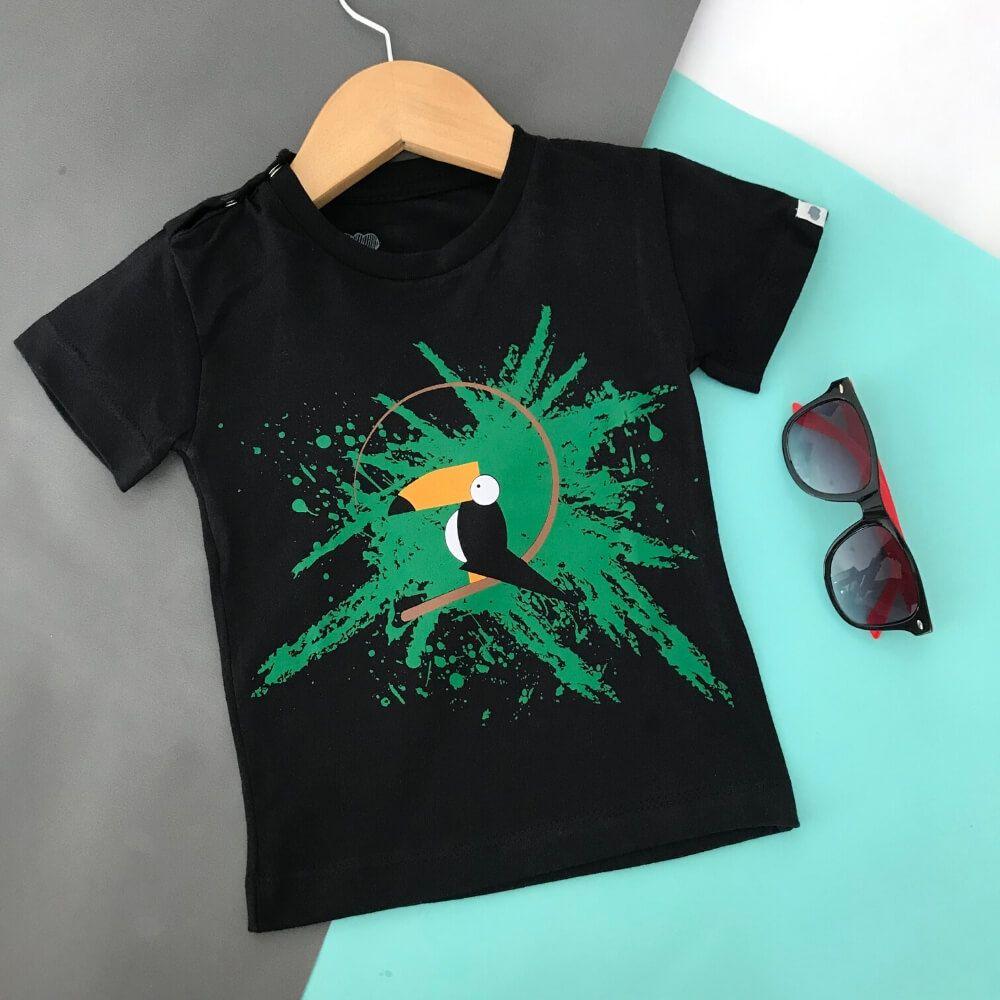 Camiseta Infantil Manga Curta Tucano