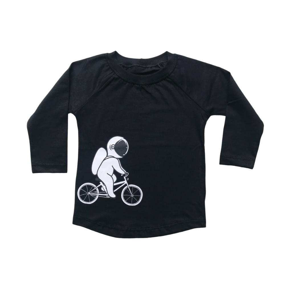 Camiseta Infantil Manga Longa Astronauta