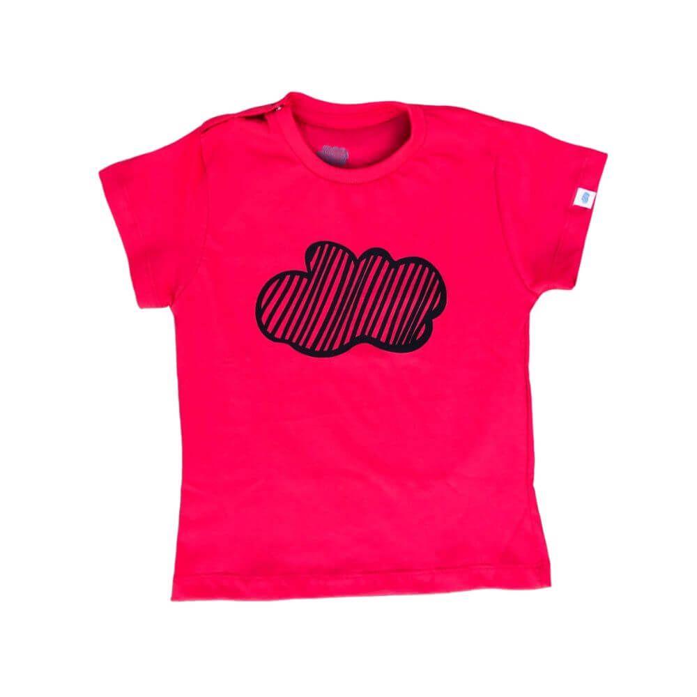 Camiseta Infantil Nuvem Vermelho