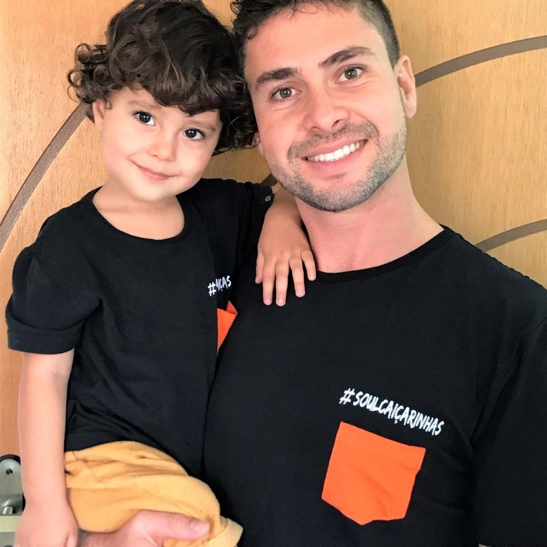 Camiseta Manga Curta Infantil Preta #SoulCaiçarinhas