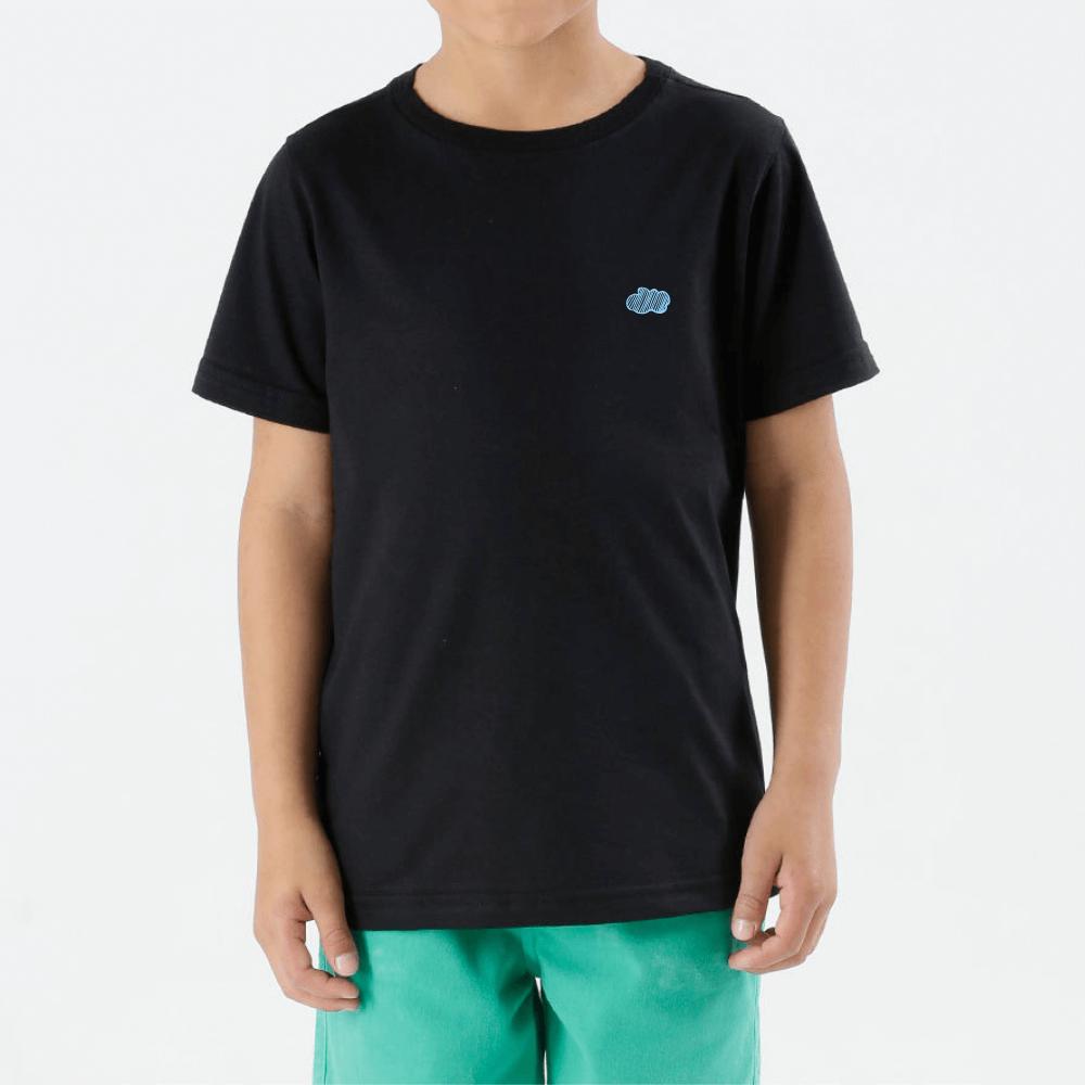 Camiseta preta Nuvem