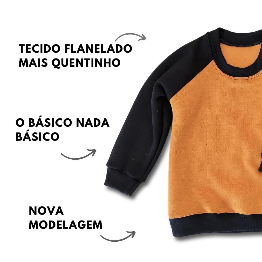 Casaco Moletom Infantil Duo Color Flanelado