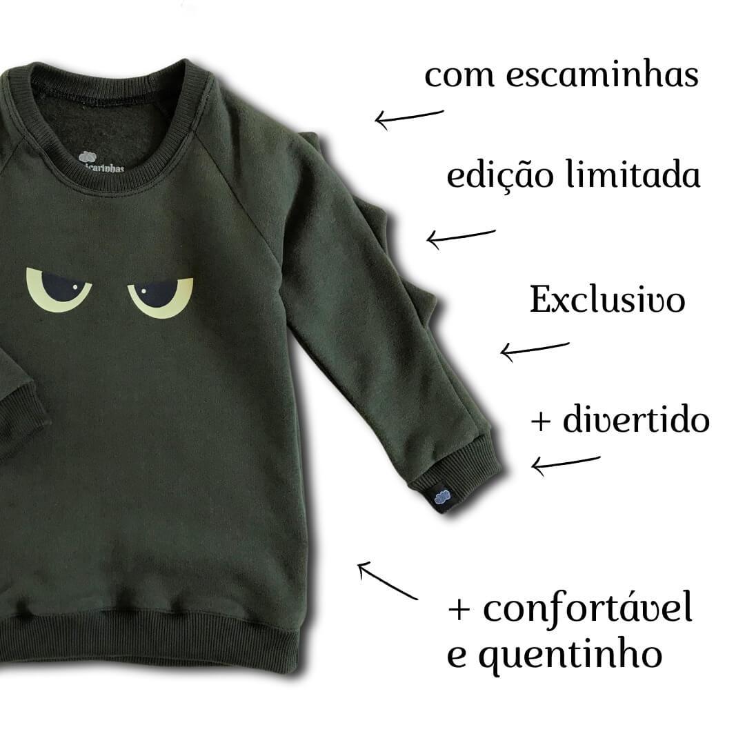 Casaco Moletom Infantil Verde Escuro Tô de Olho