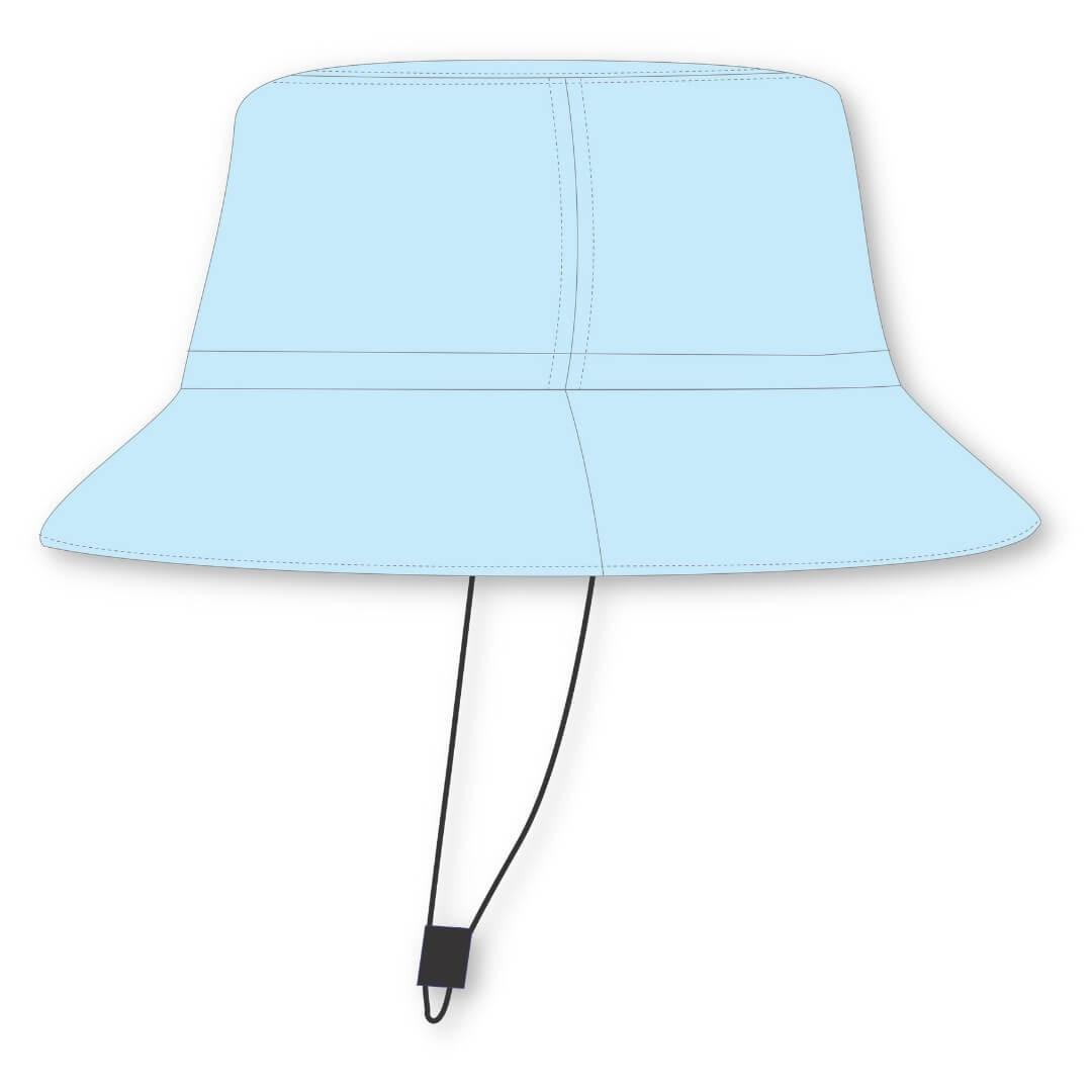 Chapéu Infantil Dupla Face Proteção UV50+ Dino Azul