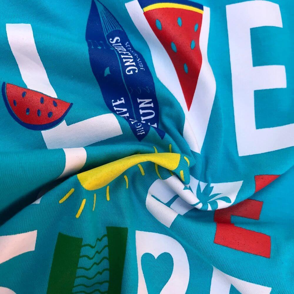 Camiseta Infantil Live, Love and Surf