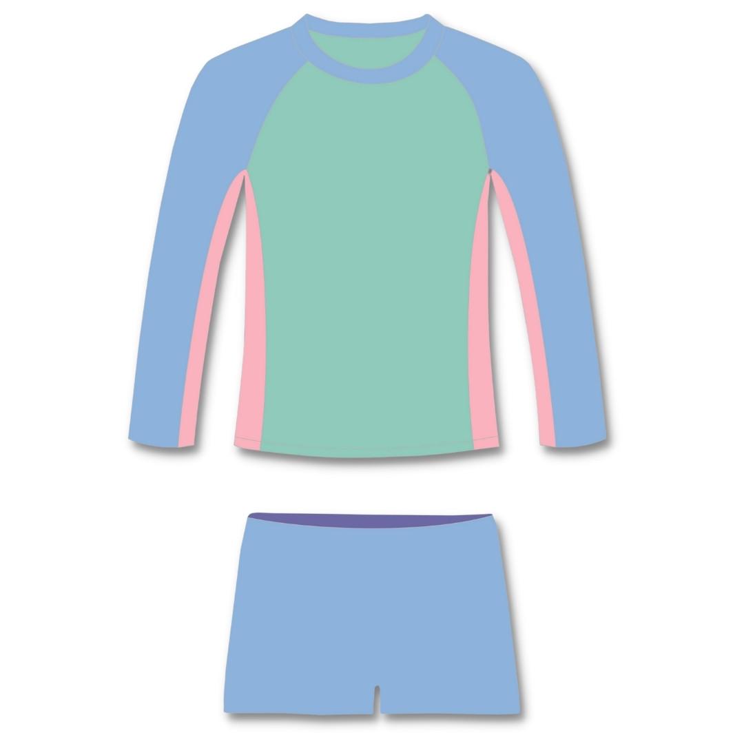 Conjunto Infantil Proteção Solar UV50+ Candy Colors Camiseta + Sunga