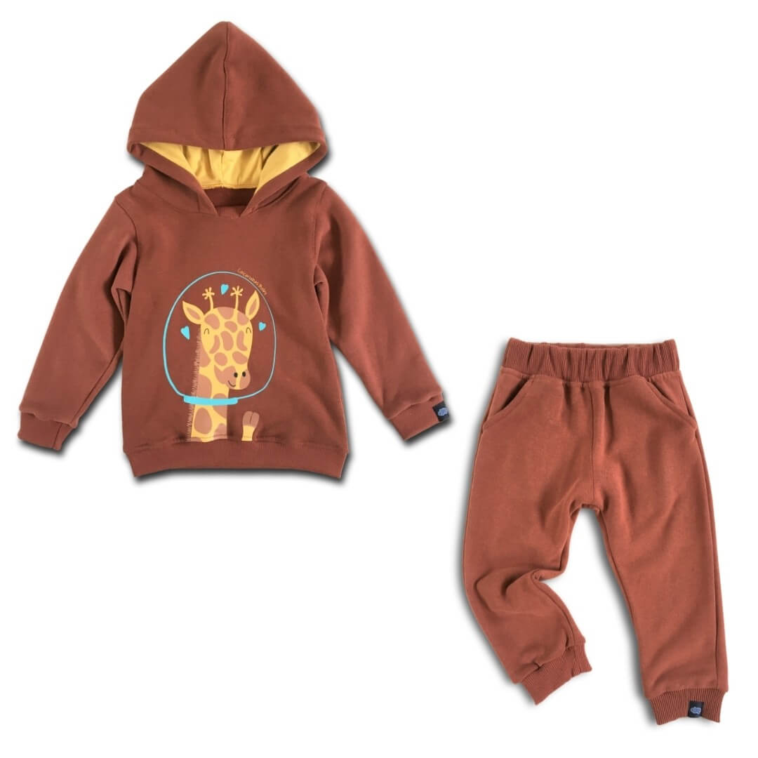 Conjunto Moletom Infantil Girafa