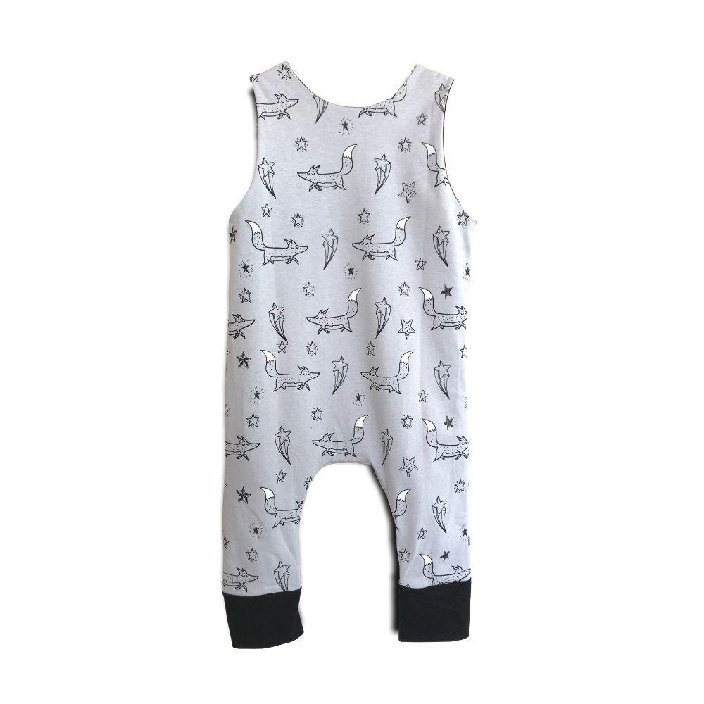 Macacão Bebê Regata Raposinhas nas Estrelas II