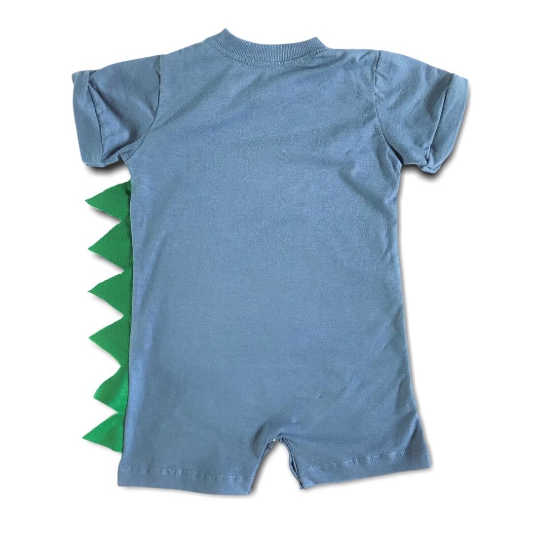 """Macacão Curto Infantil Camaleão """"O Sumido"""" Azul"""