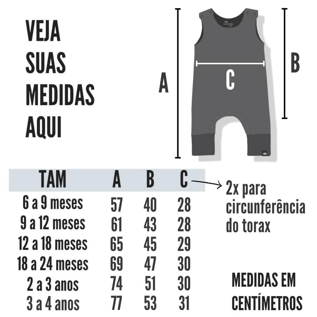 Macacão Infantil Regata Preto com Bolso