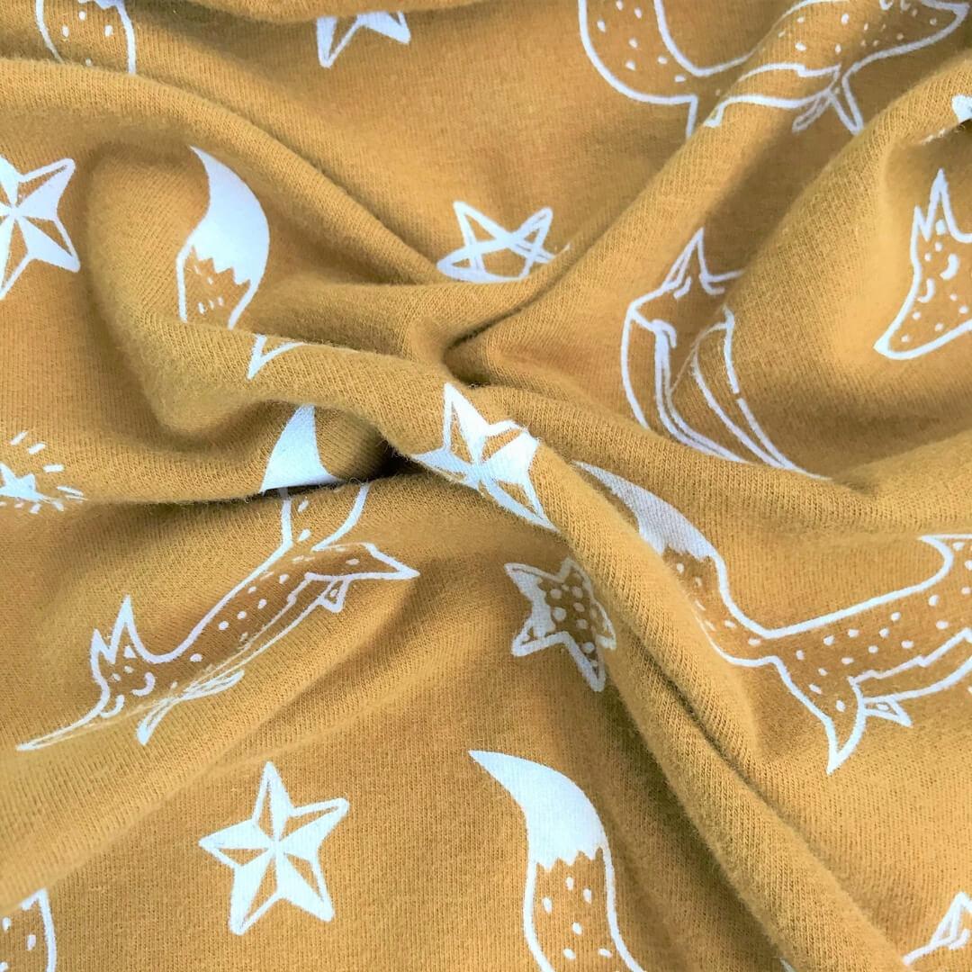 Macacão Longo Infantil Confort Marrom Raposinhas nas Estrelas