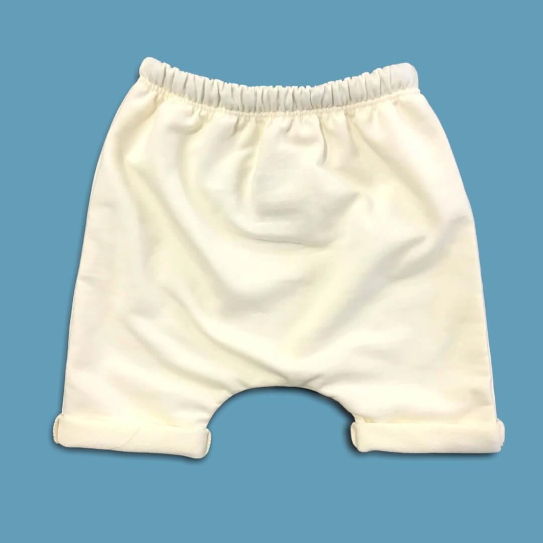 Short Saruel Off White 100% Algodão