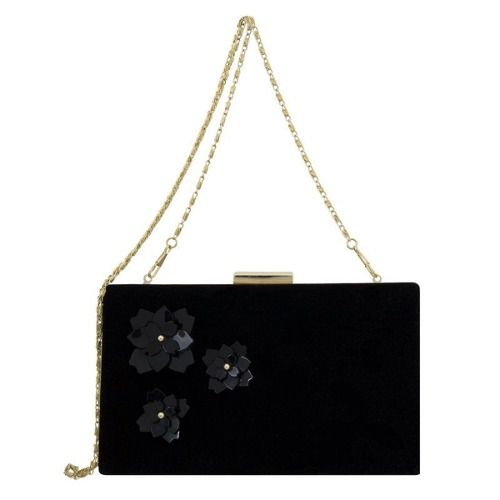 Bolsa Clutch Le Diamond Flowers Preta