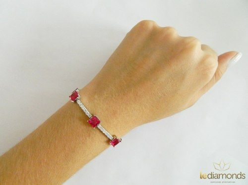 Pulseira Le Diamond Rubi Vermelho