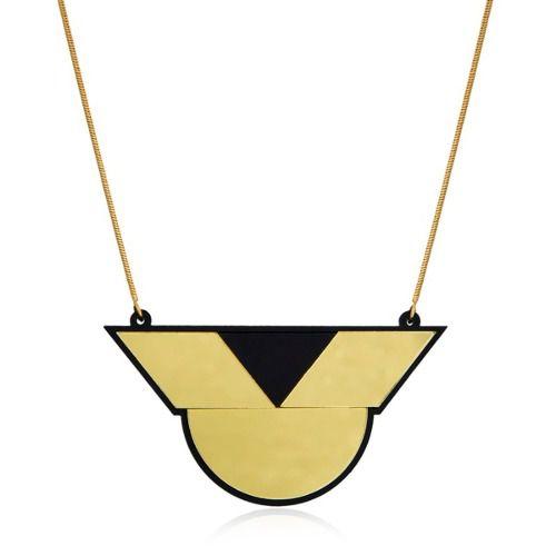Colar Lediamond Geométrico Dourado