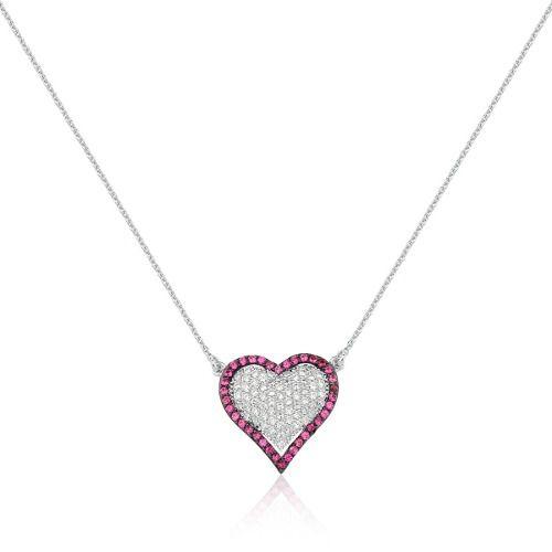 Colar Le Diamond Coração Prata
