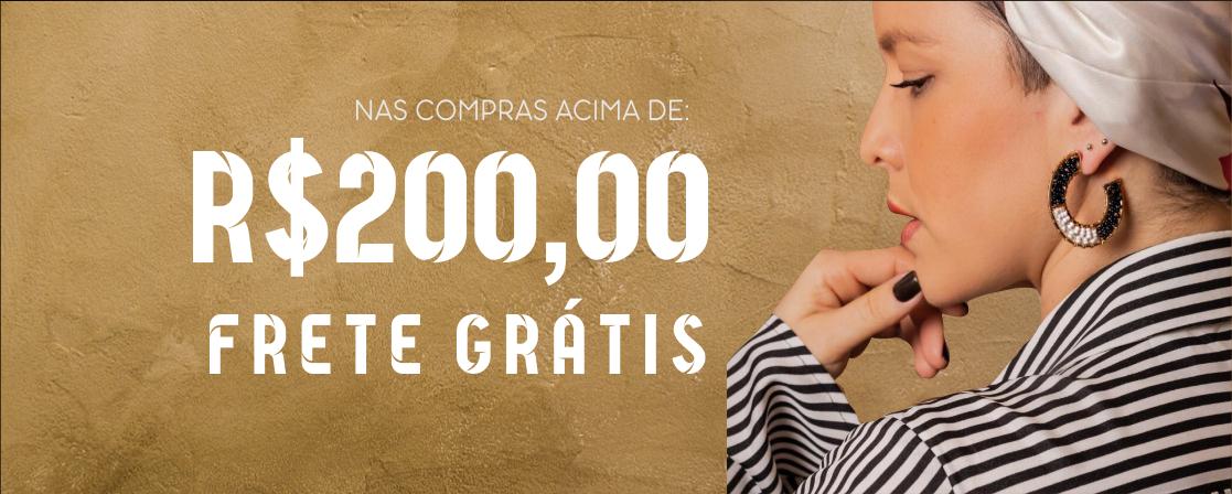 Frete gratis nas compras acima de R$200,00