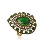 Anel Le Diamond Pedra e Zircônia Verde