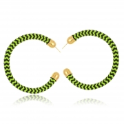 Argola Le Diamond Tecido Verde