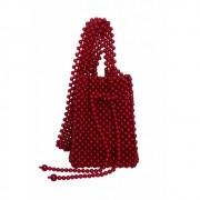 Bolsa Le Diamond Artesanal de Bolinhas Vermelha