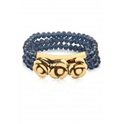 Bracelete Le Diamond Flores e Cristais Azul Montana