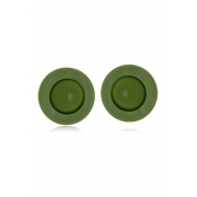 Brinco Le Diamond Botão Verde Militar