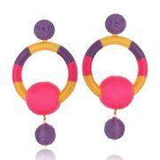 Brinco Le Diamond Handmade Vivienne Pink