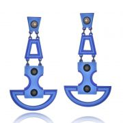 Brinco Le Diamond Pêndulo Azul