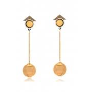 Brinco Le Diamond Pendulo Dourado