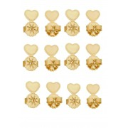 Kit Tarraxa Le Diamond 6 pares Coração Dourada