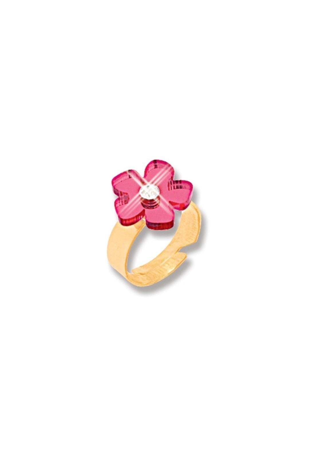 Anel Le Diamond Falange Flor Dourado