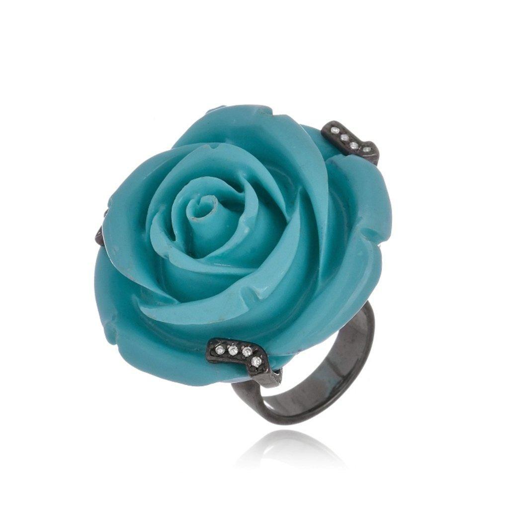 Anel Le Diamond Flor Azul