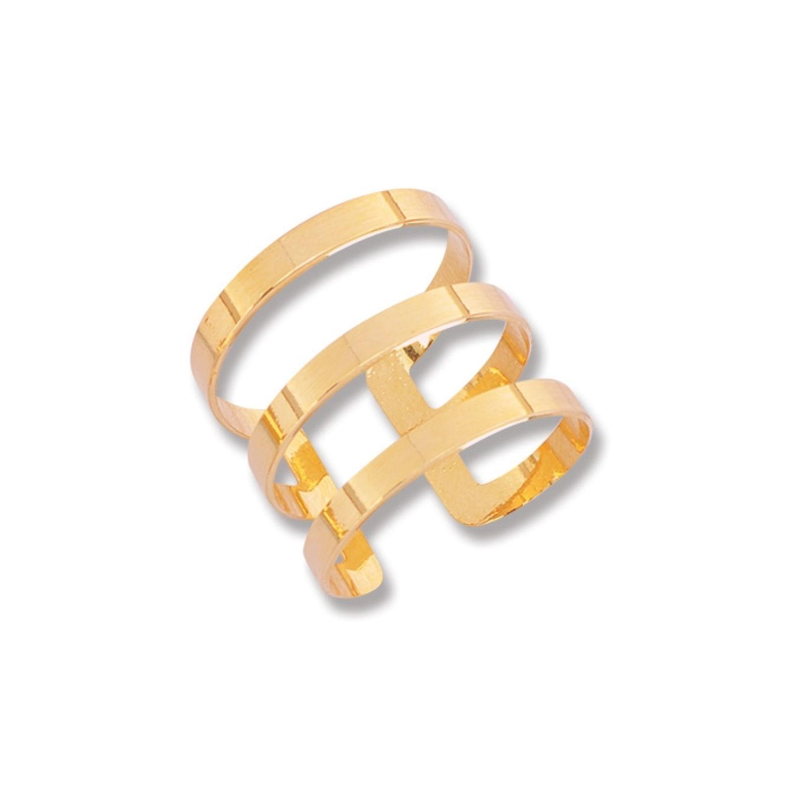 Anel Le Diamond Giovana Três Aros Dourado
