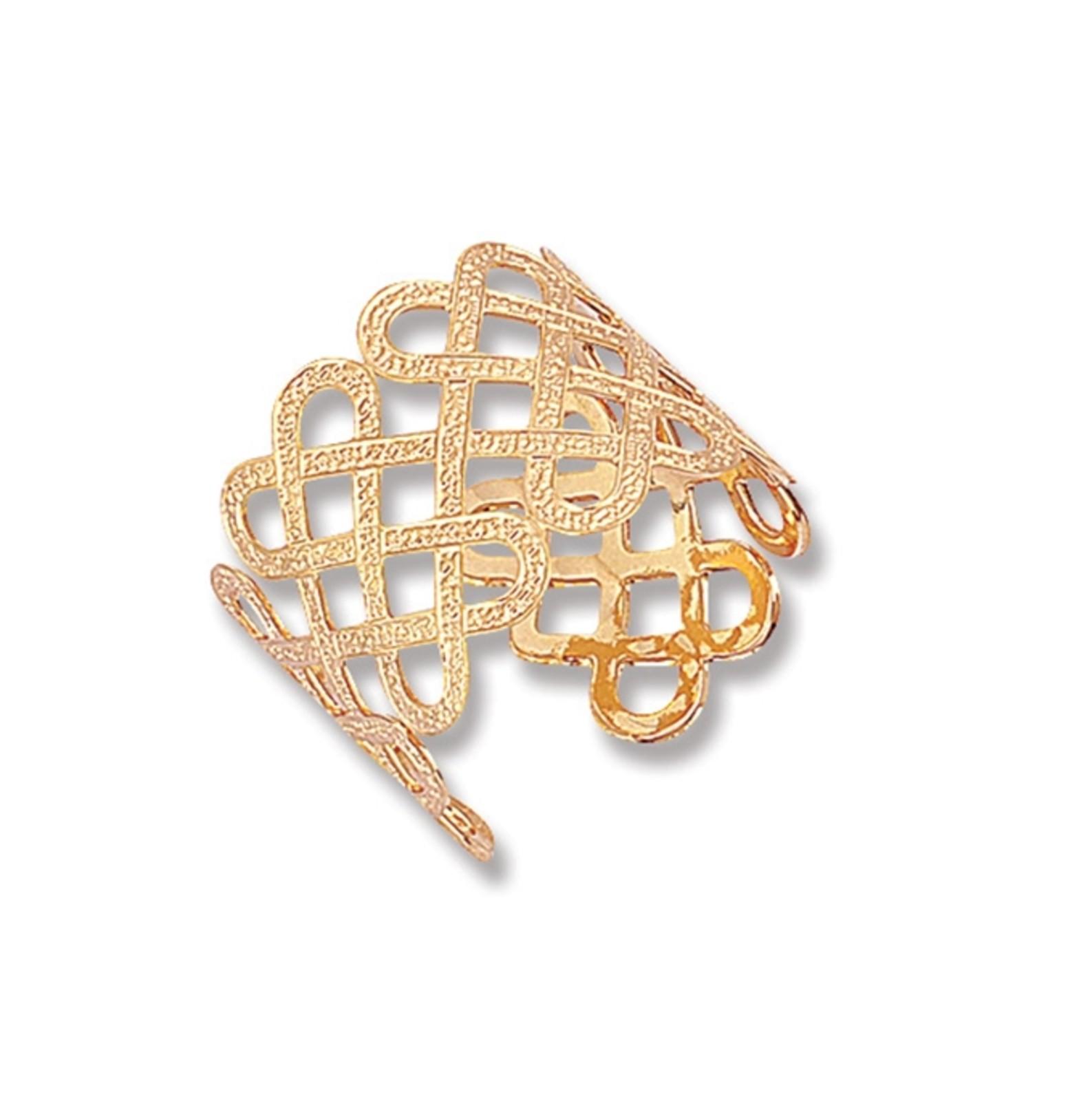 Anel Le Diamond Isis Aramado Dourado