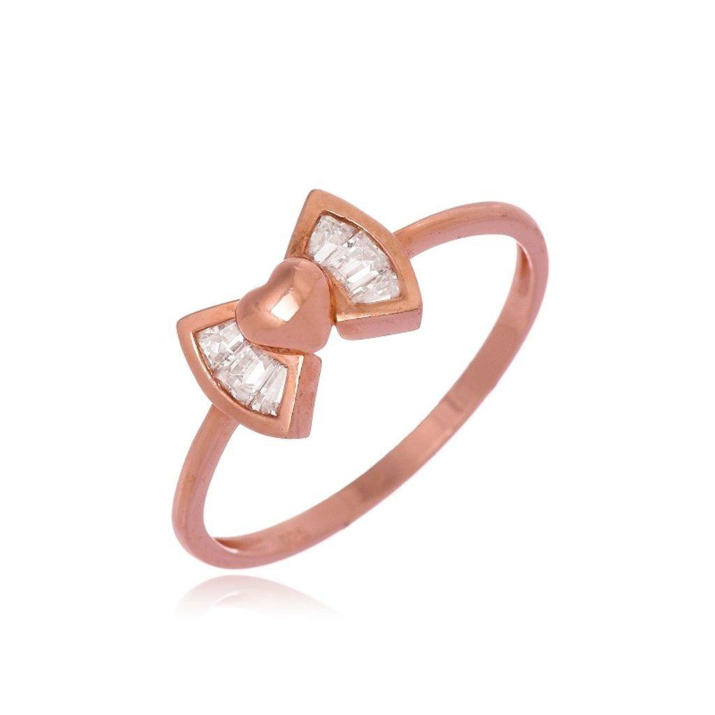 Anel Le Diamond Laço com Zircônia Dourado