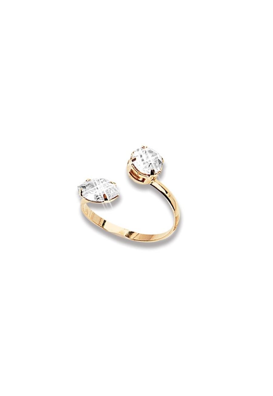 Anel Le Diamond Luzon Dourado