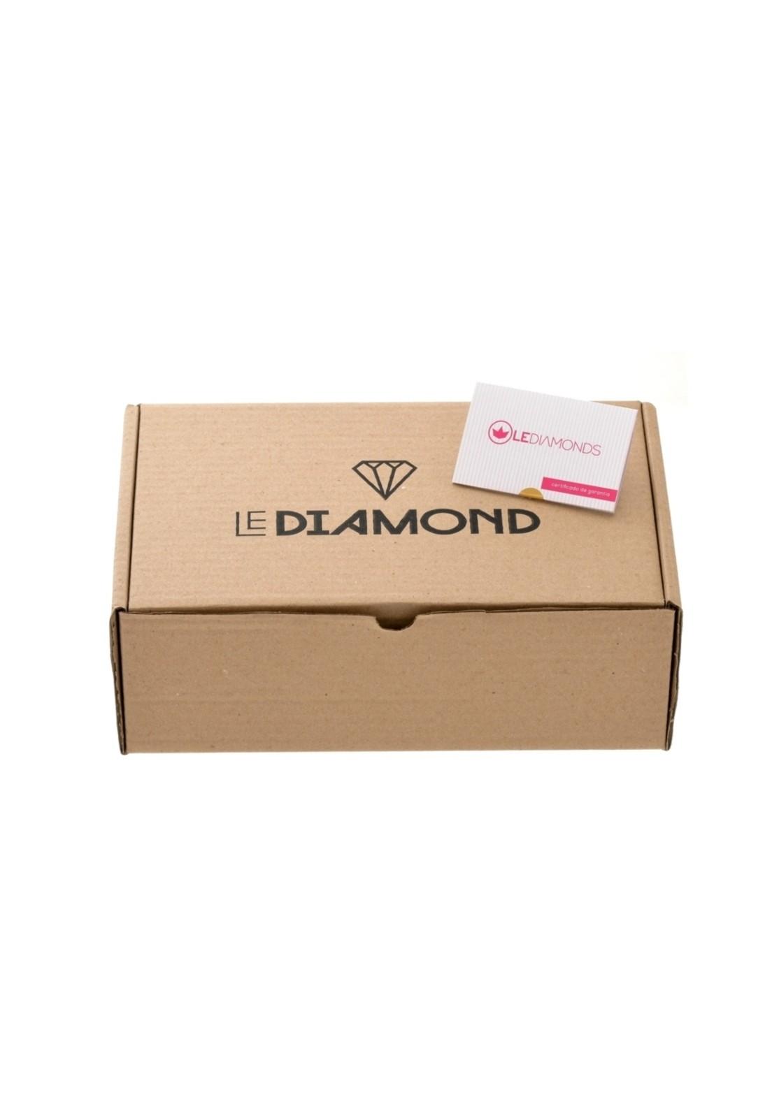 Anel Le Diamond Monarca Ródio Branco
