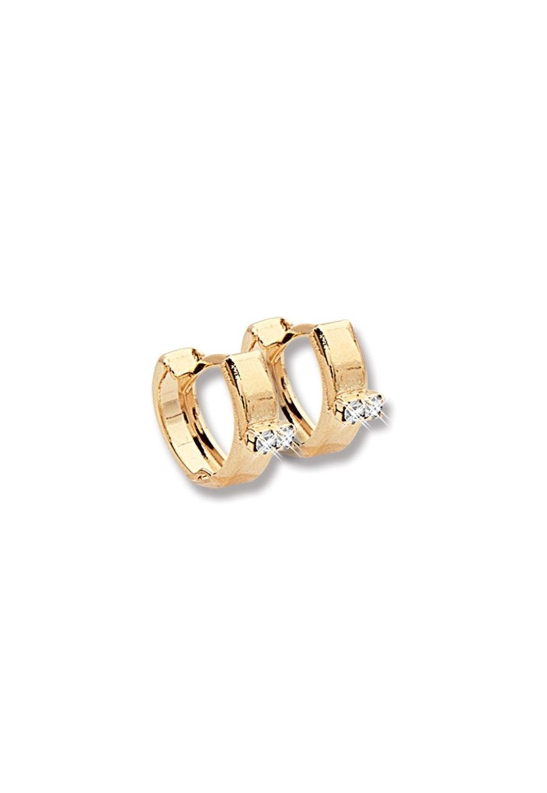 Argola Le Diamond com Micro Zircônias Dourada