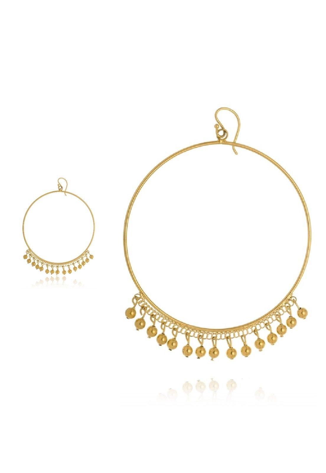 Argola Le Diamond com Mini Esferas Dourada