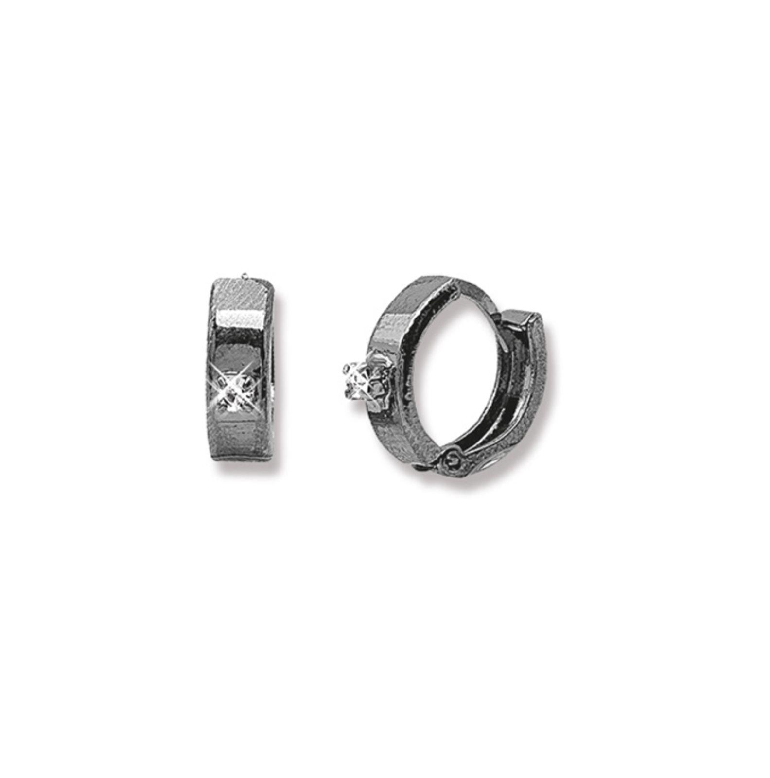 Argola Le Diamond com Strass Ródio Negro