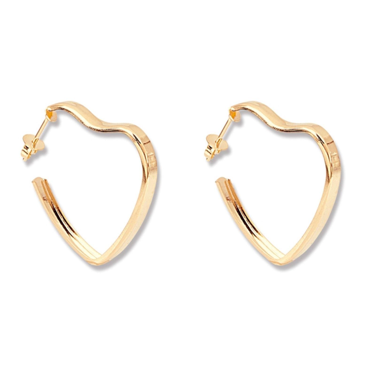 Argola Le Diamond Coração Dourada