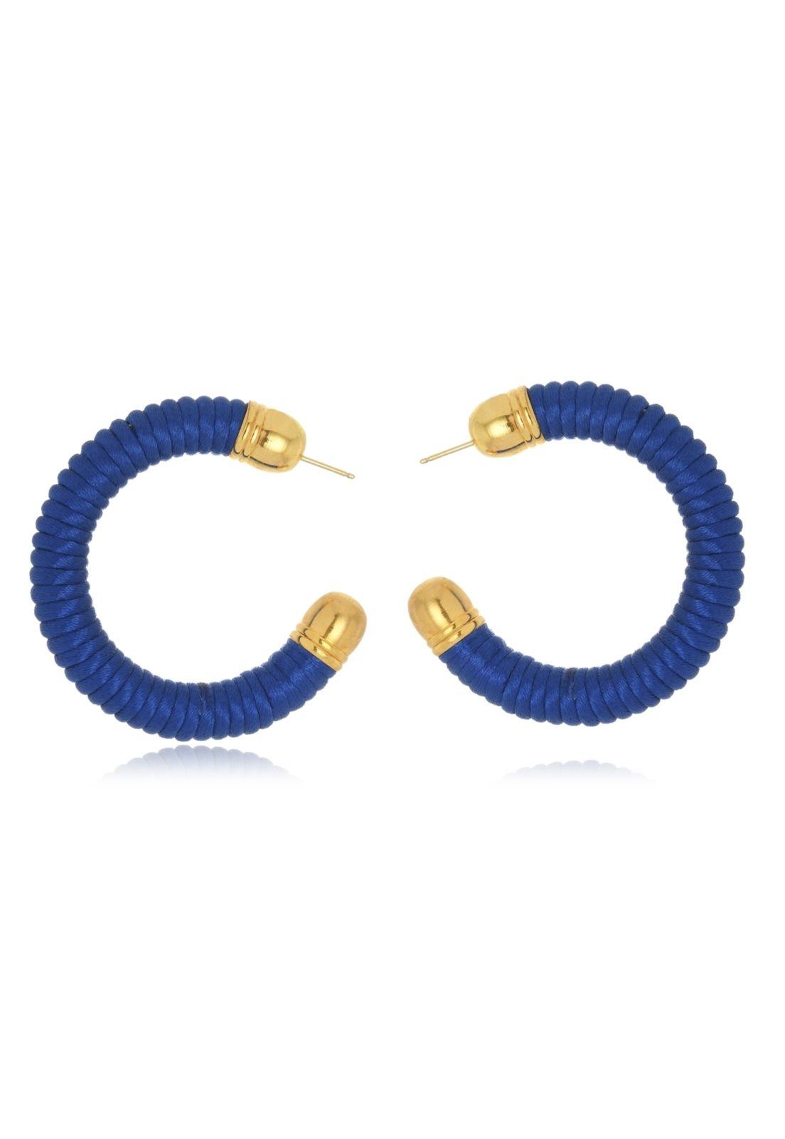 Argola Le Diamond Fios Azul