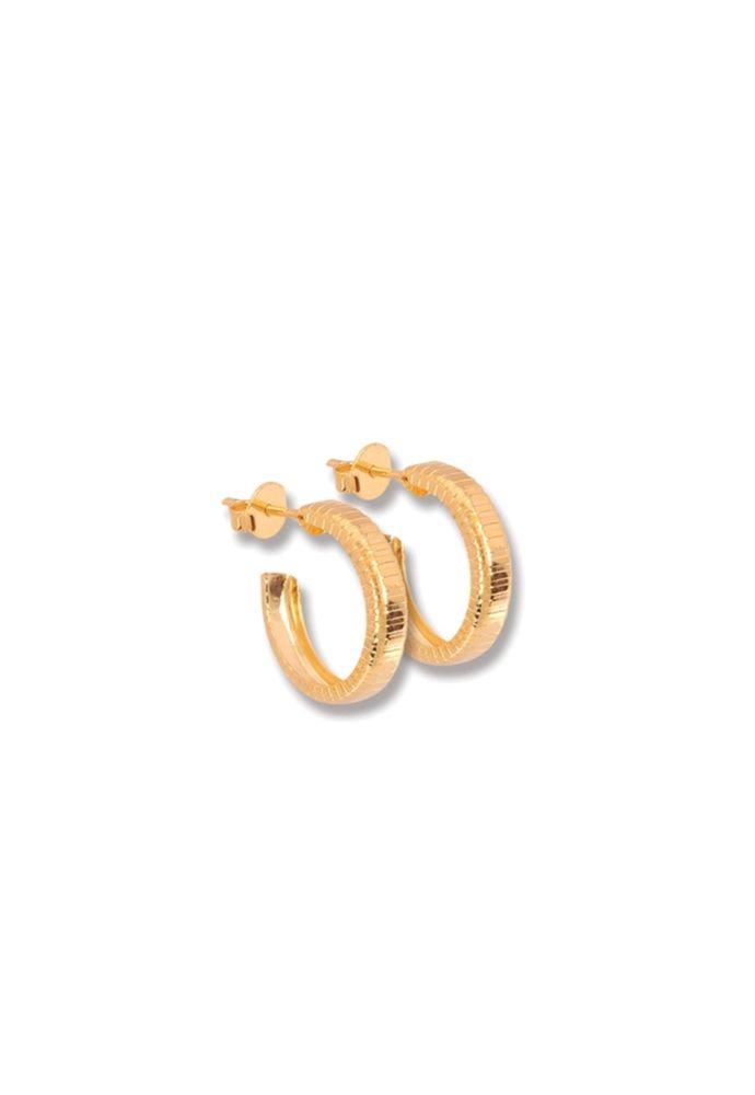 Argola Le Diamond Pequena Aberta Dourada