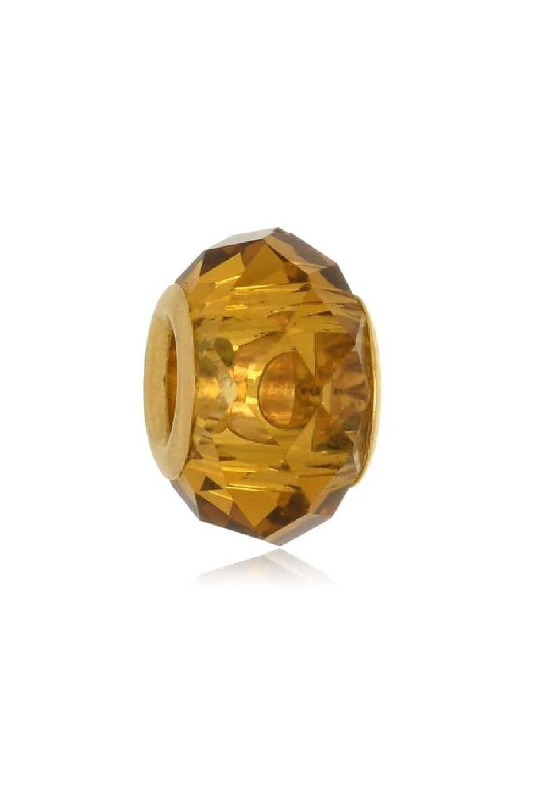 Berloque Le Diamond Charm Cristal Lapidado Dourado