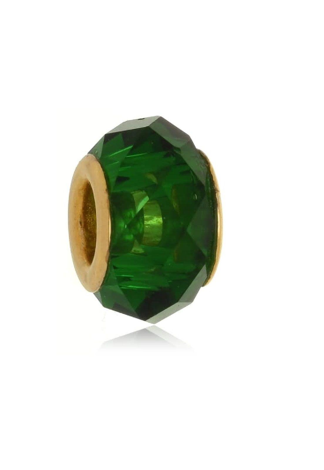 Berloque Le Diamond Charm Cristal Lapidado Verde Esmeralda