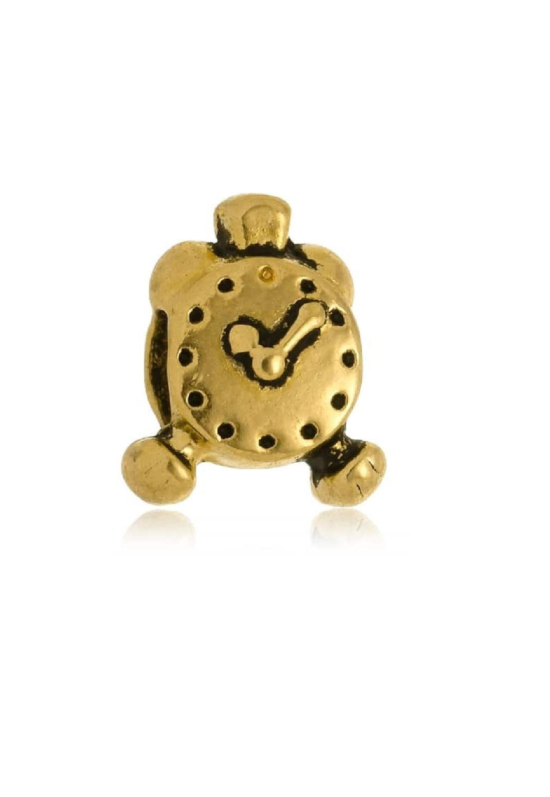 Berloque Le Diamond Charm Relógio Dourado